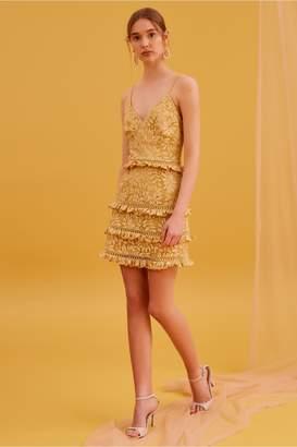 Keepsake IMAGINE MINI DRESS golden yellow