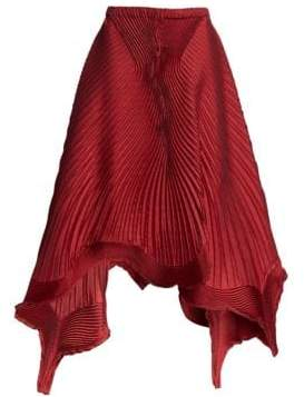 Issey Miyake Pleated Petal A-Line Skirt