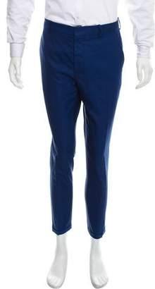 Marni Wool Cuffed Cropped Pants