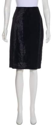 Prabal Gurung Velvet Knee-Length Skirt