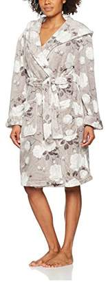 Dorothy Perkins Women's Floral Printed Robe Dressing Gown,8 (Manufacturer Size: S)