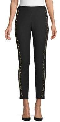 MICHAEL Michael Kors Slim Studded Cropped Pants