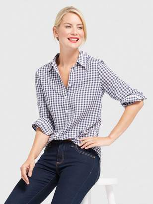 Draper James Gingham Classic Button Down