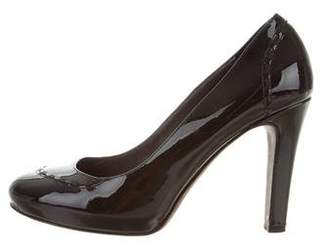 Theory Patent Leather Round-Toe Pumps