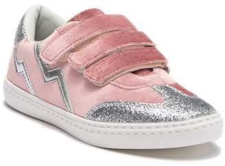Hoo Triple Strap Glitter Sneaker (Toddler, Little Kid & Big Kid)