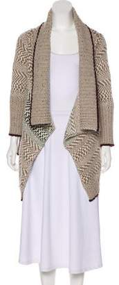 Yigal Azrouel Knitted-Open-Faced Cardigan