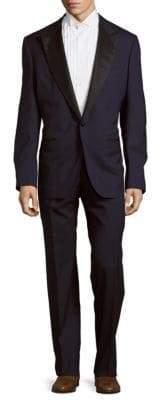 Textured Peak-Lapel Suit
