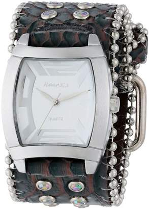 Nemesis Women's 2SB067W Stone Collection White/Black Animal Print Rugged Watch