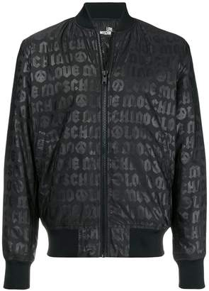 Love Moschino logo zipped bomber jacket