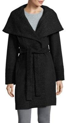 Calvin Klein Wide-Lapel Wrap Coat
