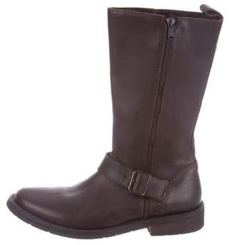 Dolce & Gabbana Round-Toe Leather Boots