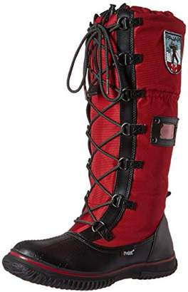 Pajar Women's Grip Zip Snow Boots, Black/Red, 36 EU/