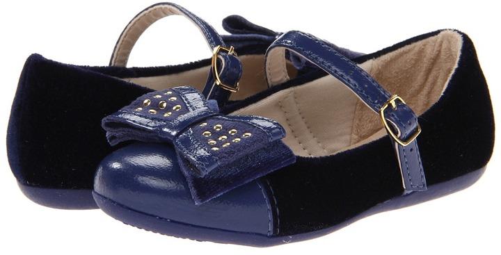 Pampili 188147 Bailarina (Toddler/Little Kid) (Navy) - Footwear