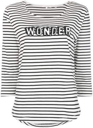 Parker Chinti & slogan striped fitted top