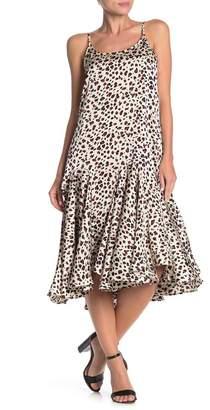 MelloDay Drop Waist Printed Midi Dress
