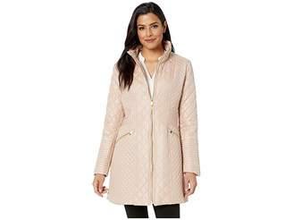 Via Spiga Boxy Diamond Quilt Women's Coat