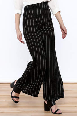 Alythea Striped Wide-Leg Trousers