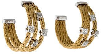 CharriolCharriol Bi-Color Diamond Hoop Earrings