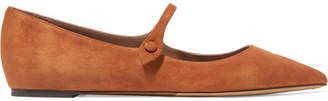 Tabitha Simmons Hermione Suede Point-toe Flats - Camel