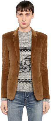 Saint Laurent Single Breasted Cotton Corduroy Jacket