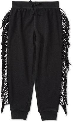 Ralph Lauren Faux-Leather Fringe Jogger Pants, Toddler & Little Girls (2T-6X) $45 thestylecure.com