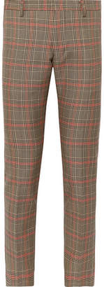 Dries Van Noten Slim-Fit Prince Of Wales Checked Wool-Blend Trousers