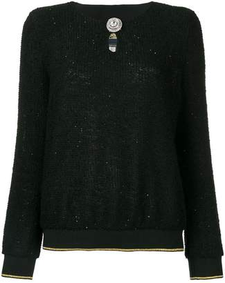 Class Roberto Cavalli embellished button jumper