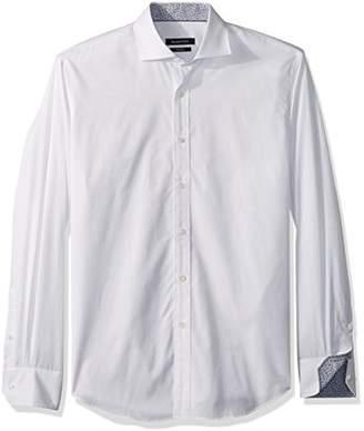 Bugatchi Men's Trim Fit Long Sleeve Spread Collar Woven Shirt