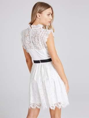 Girls On Film Lace Crochet Tier Dress