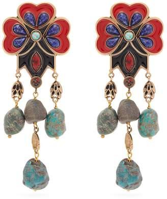 Etro Flower bead earrings