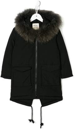 Douuod Kids hooded zipped coat