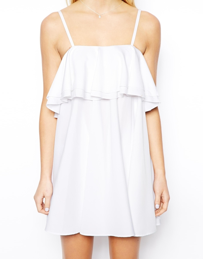Asos Exclusive Strappy Ruffle Dress
