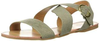 Qupid Women's Caged Sandal Flat