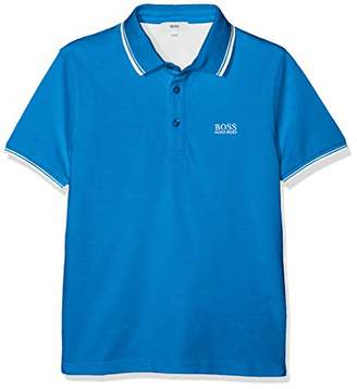 BOSS Boy's Polo Manches Courtes Shirt, (Bright Turquoise 76n), (Size: 04A)