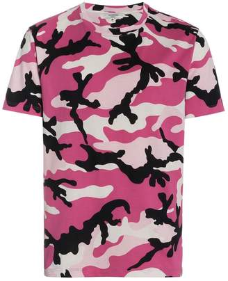 Valentino camouflage print cotton short sleeve t shirt