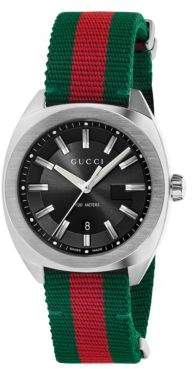 Gucci Stainless Steel & Nylon Web Watch