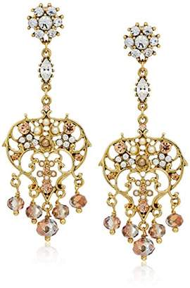 Badgley Mischka Pearl Chandelier Drop Earrings