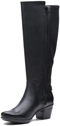 4390d4efeaa Clarks Wide Fit Emslie March Knee High Boots - Black