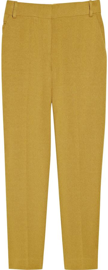 Diane von Furstenberg Georginne Cuff cropped basketweave pants