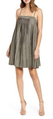 Love, Fire Pleated Shift Dress