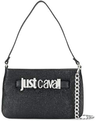 Just Cavalli textured logo tote bag