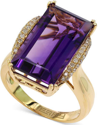 Effy Lavender Rose by Amethyst (9-5/8 ct. t.w.) and Diamond (1/6 ct. t.w.) Ring in 14k Gold