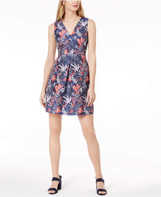 Maison Jules Floral-Print Fit & Flare Dress, Created for Macy's
