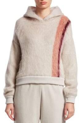 Gentry Portofino Stripe Mohair& Wool Blend Hoodie