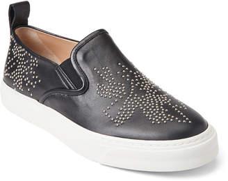 Chloé Black Studded Napa Skate Sneakers