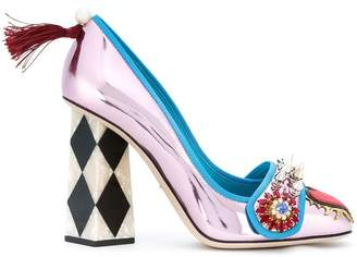 Dolce & Gabbana Jackie pumps with bejewelled appliqué