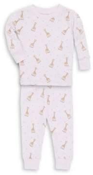 Kissy Kissy Baby's& Toddler's Two-Piece Sophie La Girafe Pajama Top& Pants Set