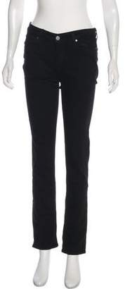 Paige Mid-Rise Straight-Leg Jeans