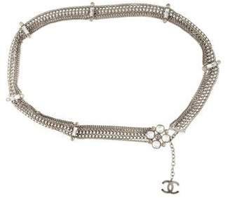Chanel Crystal Camellia Belt