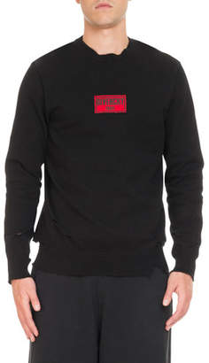 Givenchy Boxing-Inspired Distressed Sweatshirt